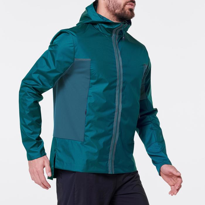 Water- en winddichte joggingjas voor heren Run Rain Breath zwart