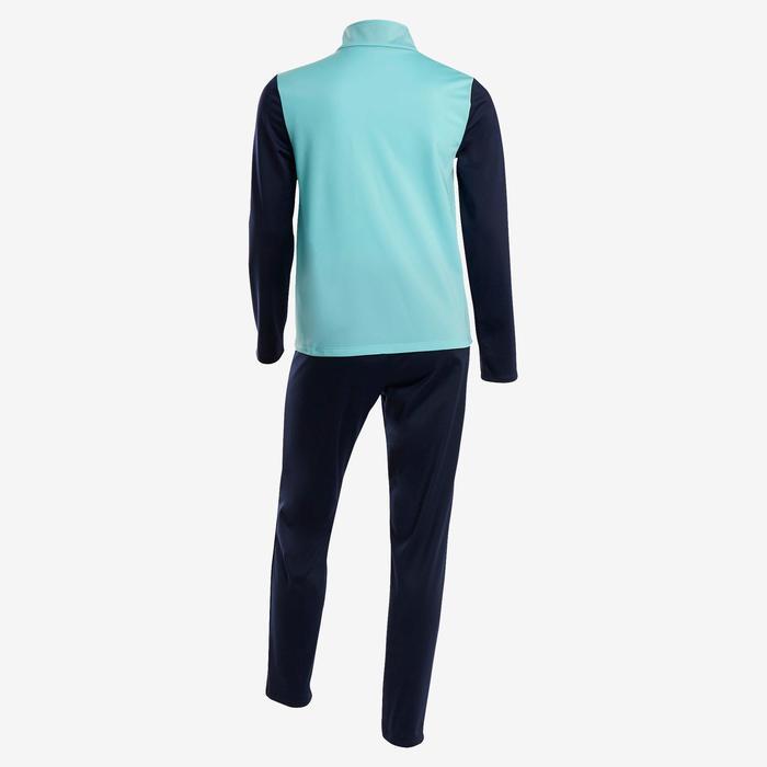 Trainingsanzug GYM'Y warm, Synthetik atmungsaktiv S500 GYM Mädchen blau