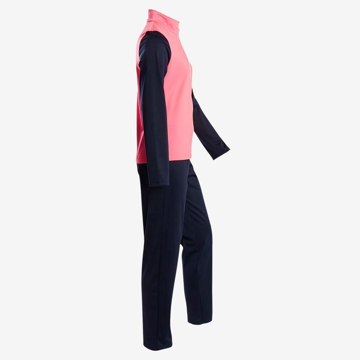 Warm en ademend synthetisch trainingspak voor meisjes, voor gym, S500 roze