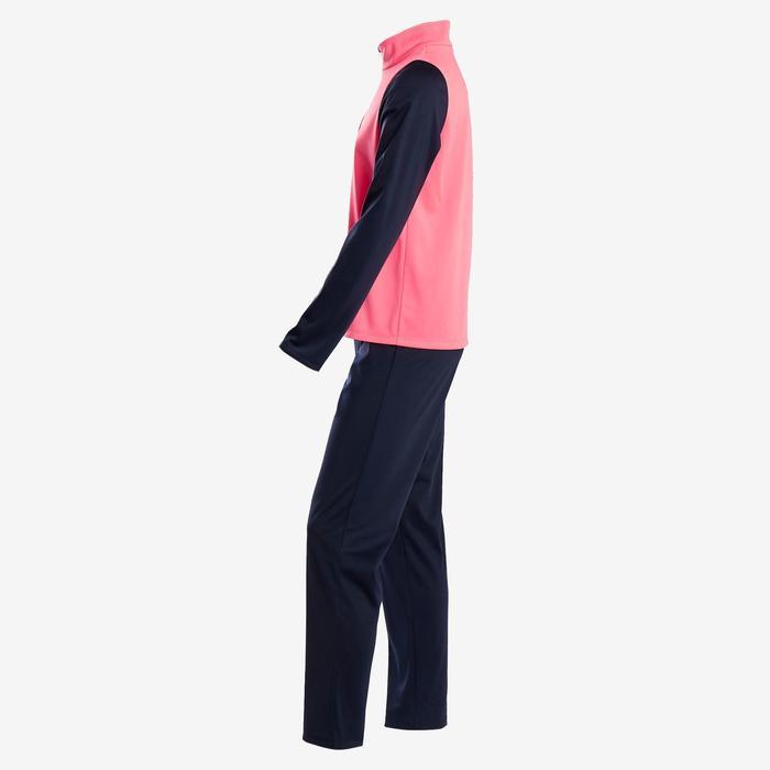 Trainingsanzug warm Synthetik atmungsaktiv Gym'Y S500 Gym Kinder rosa