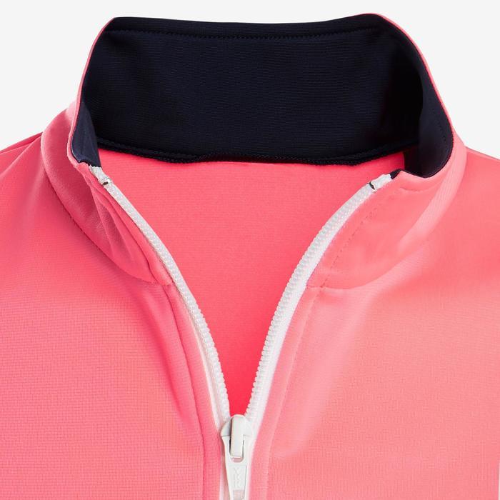 Warm en ademend trainingspak voor gym meisjes GYM'Y S500 synthetisch roze