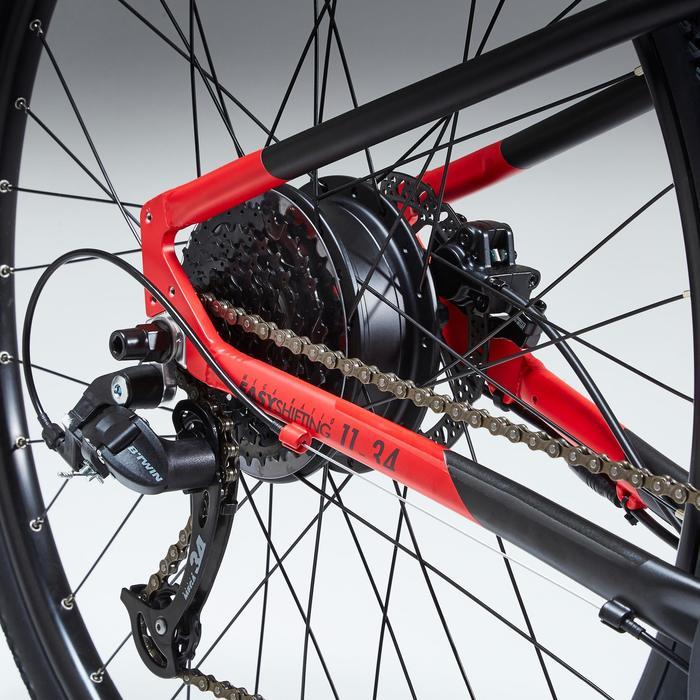 E-Bike Cross Bike 28 Zoll Riverside 500E grau/rot