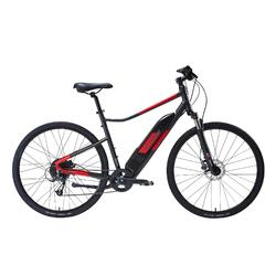 E-Bike Cross Bike 28 Zoll Riverside 500E grau/rot