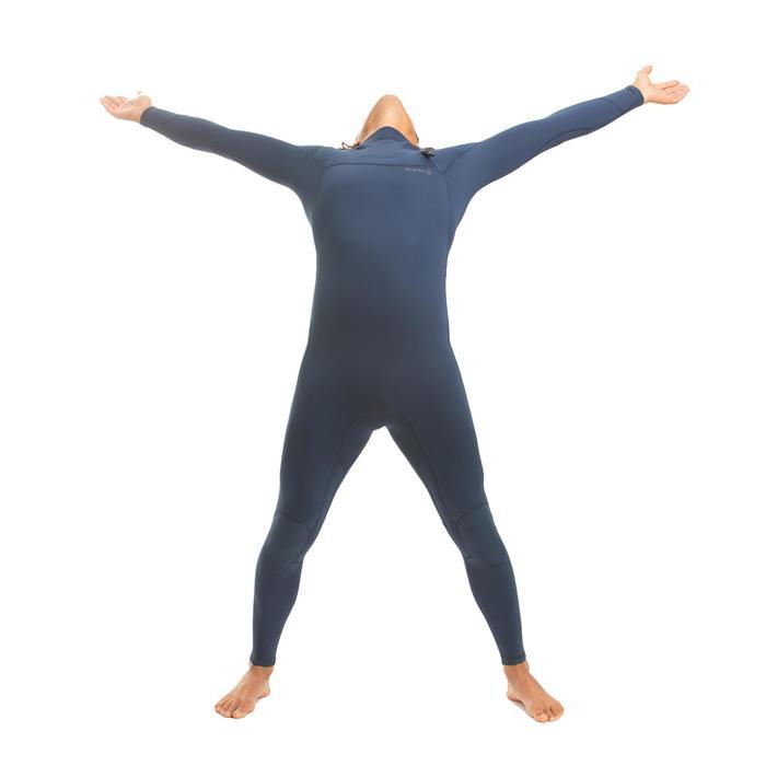 男款3/2 mm氯丁橡膠(neoprene)無拉鍊衝浪防寒衣900-藍色