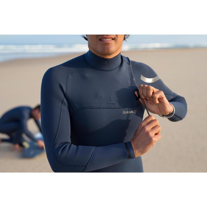 Wetsuit heren 900 3/2 mm zonder rits blauw