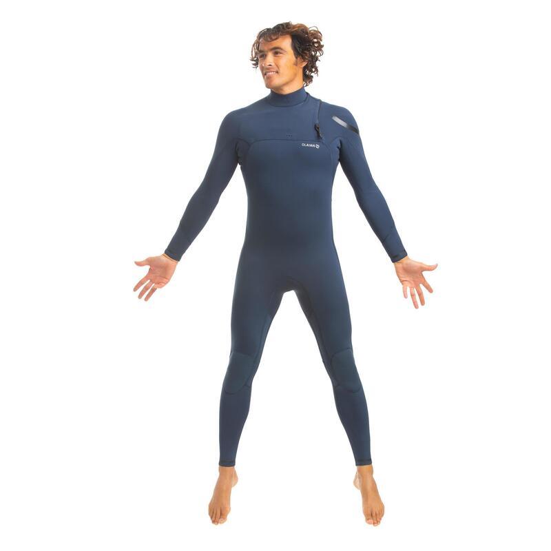 Neopreno Surf Hombre Olaian 900 Azul 3/2mm Sin Cremallera.