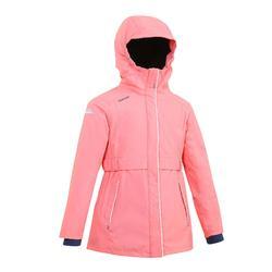 女童款保暖雨衣100-珊瑚紅