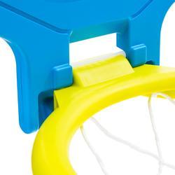 Panier de basket enfant/adulte THE HOOP 500 blason vert bleu. Transportable.