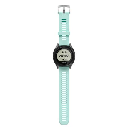 RUNNING GPS WATCH KIPRUN 500 - BLACK/AQUA