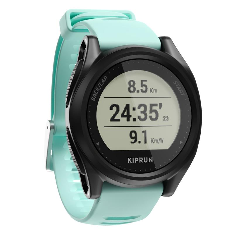 RUNNING GPS WATCH KIPRUN 500 - BLACK/AQUA