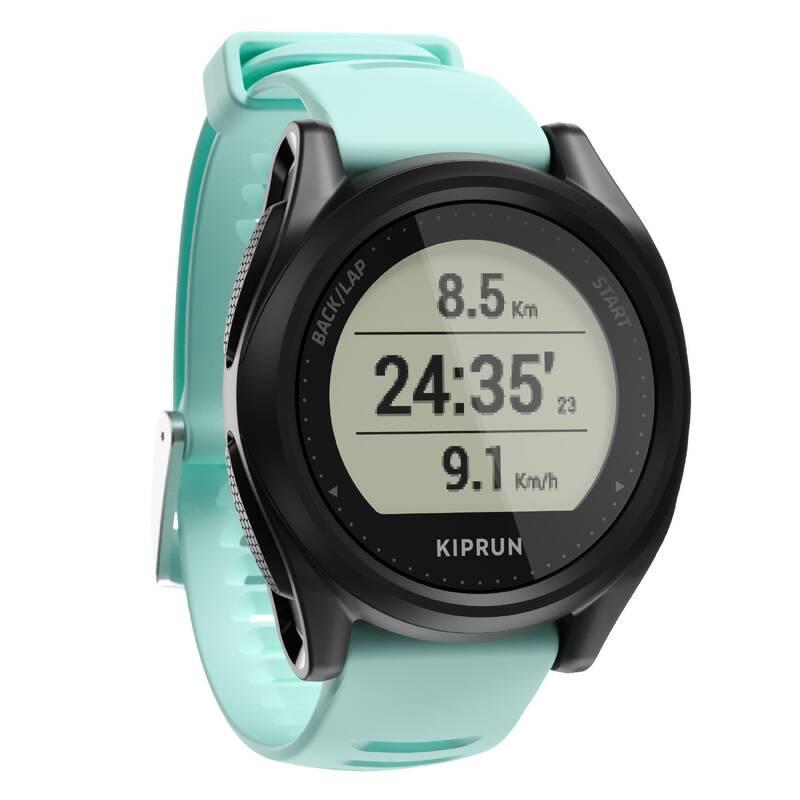 BĚŽECKÉ GPS HODINKY Běh - HODINKY S GPS 500 ZELENÉ KIPRUN - Běžecká elektronika