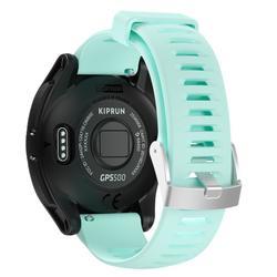 MONTRE GPS DE RUNNING KIPRUN GPS 500 NOIRE/VERTE D'EAU