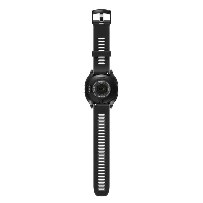 RUNNING WRIST HEART-RATE MONITOR WATCH KIPRUN GPS 550 - BLACK