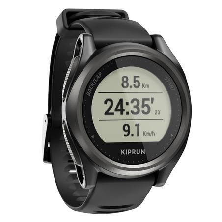 Reloj GPS Running Kiprun 550 Pulsómetro en la Muñeca Negro