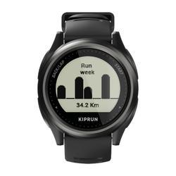 Hardloophorloge met gps en hartslagmeting aan de pols Kiprun GPS 550 zwart