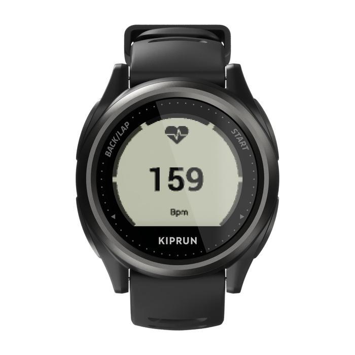 Hardloophorloge met gps en hartslagmeting aan de pols Kiprun ONmove 550