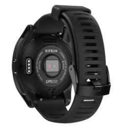 MONTRE GPS CARDIO AU POIGNET DE COURSE KIPRUN GPS 550 NOIR