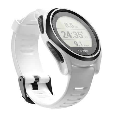 Running Wrist Heart Rate Monitor Watch Kiprun GPS 550 - white
