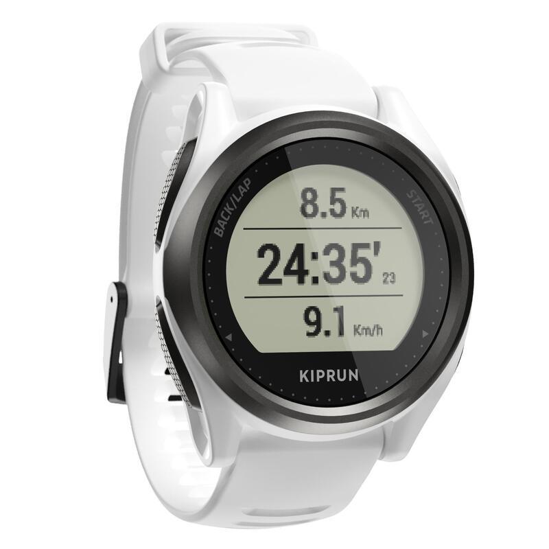 RUNNING WRIST HEART-RATE MONITOR WATCH KIPRUN GPS 550 - WHITE