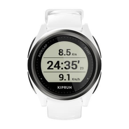 GPS-Pulsuhr Messung am Handgelenk Kiprun 550 weiss