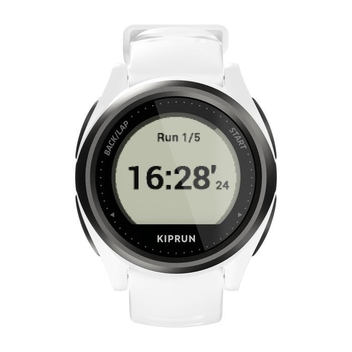 MONTRE GPS CARDIO AU POIGNET DE RUNNING KIPRUN GPS 550 BLANCHE