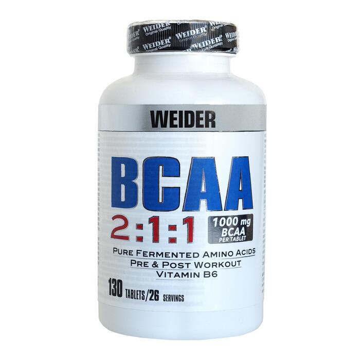 Aminoácidos BCAA WEIDER 130 TABLETAS