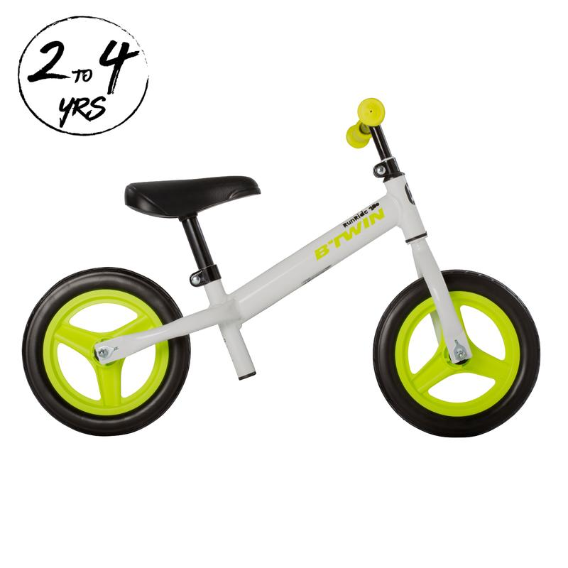RunRide 100 Kids' 10-Inch Balance Bike - White