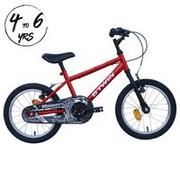 KIDS CYCLE 4 - 6 YEARS 16 INCH ROBOT RED