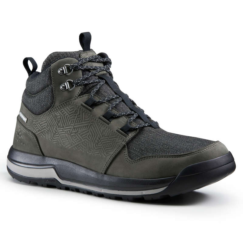 MEN NATURE HIKING SHOES Hiking - Boots NH500 Mid WP - Khaki QUECHUA - Outdoor Shoes