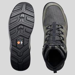 Waterdichte schoenen voor wandelen in de natuur NH500 halfhoog kaki heren