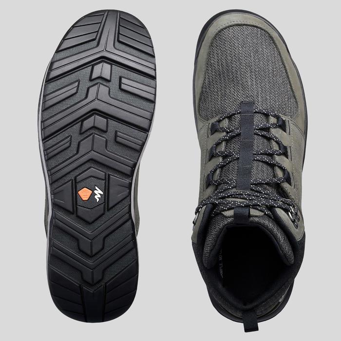 Waterdichte schoenen voor wandelen in de natuur NH500 mid kaki heren