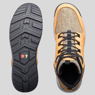 Чоловічі черевики NH500 для туризму, середньої висоти - Коричневі
