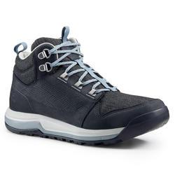 女款郊野健行防水中筒靴 NH500-黑色