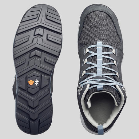 Botas de senderismo en naturaleza NH500 MID impermeables mujer negro