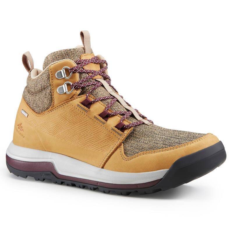 DÁMSKÉ BOTY NA NENÁROČNOU TURISTIKU Turistika - Nepromokavé boty NH 500 béžové QUECHUA - Turistická obuv