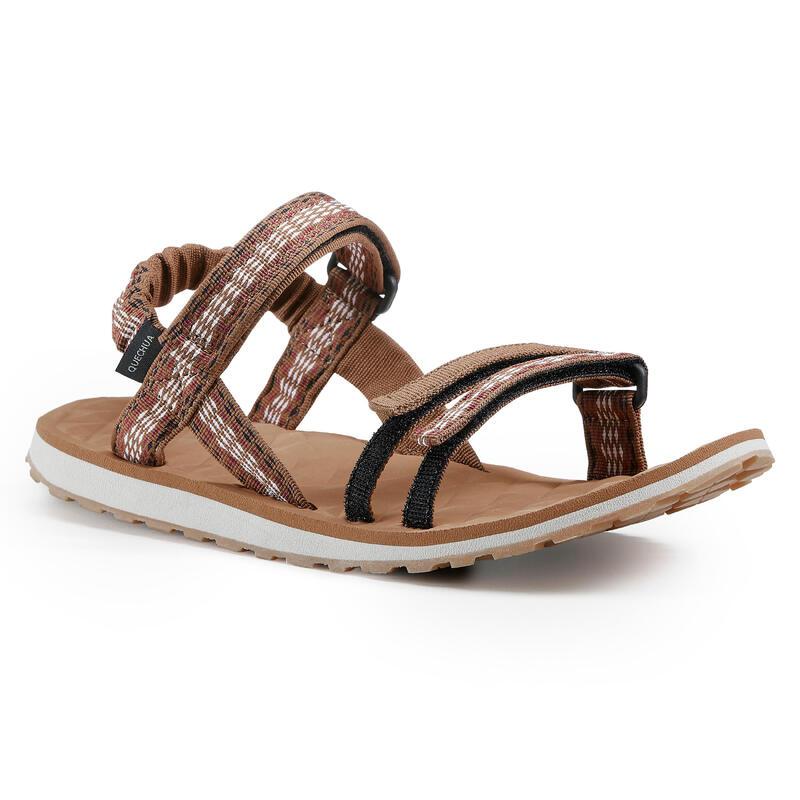 Dámské turistické sandály Travel 100 hnědé