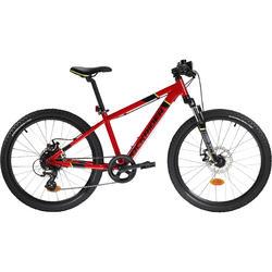Mountainbike Kinderfahrrad 24 Zoll Rockrider ST900 rot