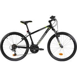Mountainbike Kinderfahrrad 24 Zoll Rockrider ST500 schwarz