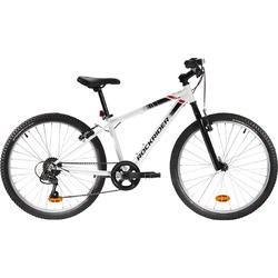 Rockrider ST 100 Kids' 24-Inch 9-12 Years Mountain Bike - White