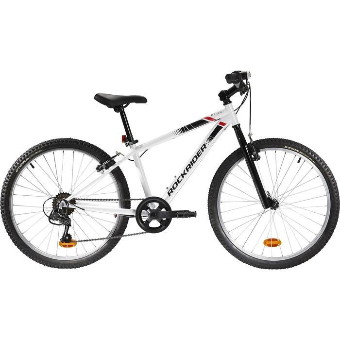 Mountainbike Kinder 24 Zoll ST 100 weiß