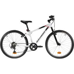 Mountainbike Kinderfahrrad 24 Zoll Rockrider ST 100 weiß