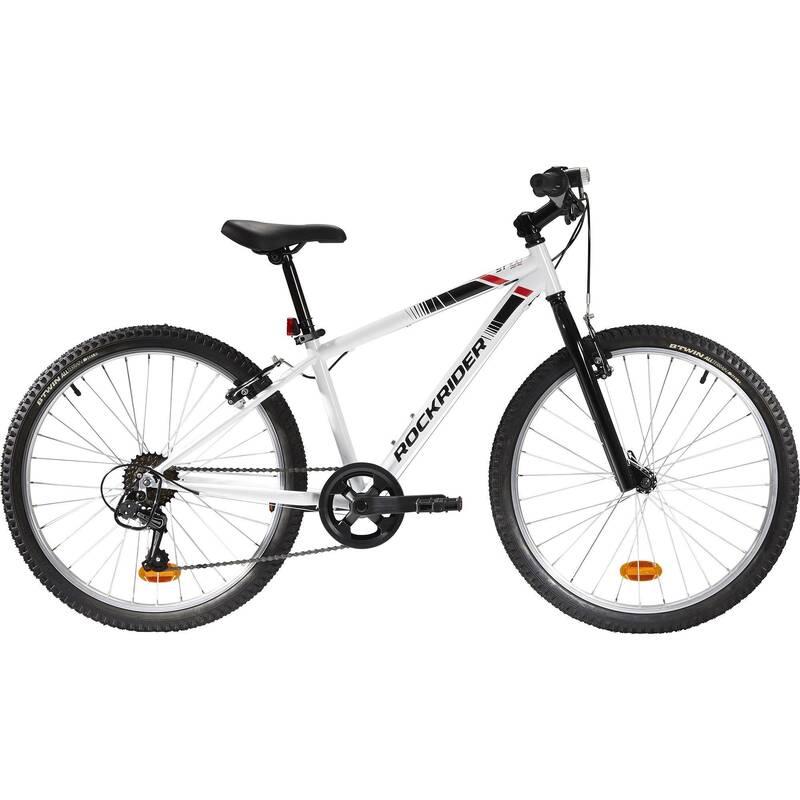 DĚTSKÁ HORSKÁ KOLA 6–12 LET Cyklistika - HORSKÉ KOLO ST100 BÍLÉ  BTWIN - Jízdní kola