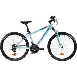 Mountainbike Kinderfahrrad24 Zoll Rockrider ST500 blau