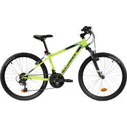 Mountainbike Kinderfahrrad 24 Zoll Rockrider ST500 neongelb