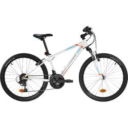 Kinder mountainbike Rockrider St 500 24 inch kinderfiets Wit 1.35-1.50m