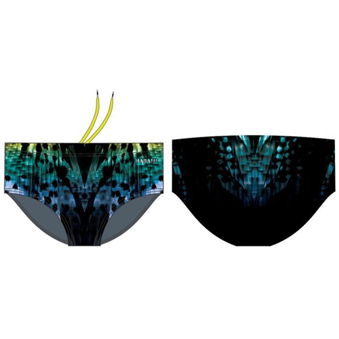 Zwembroek met brede zijkant voor heren 900 Leo groen