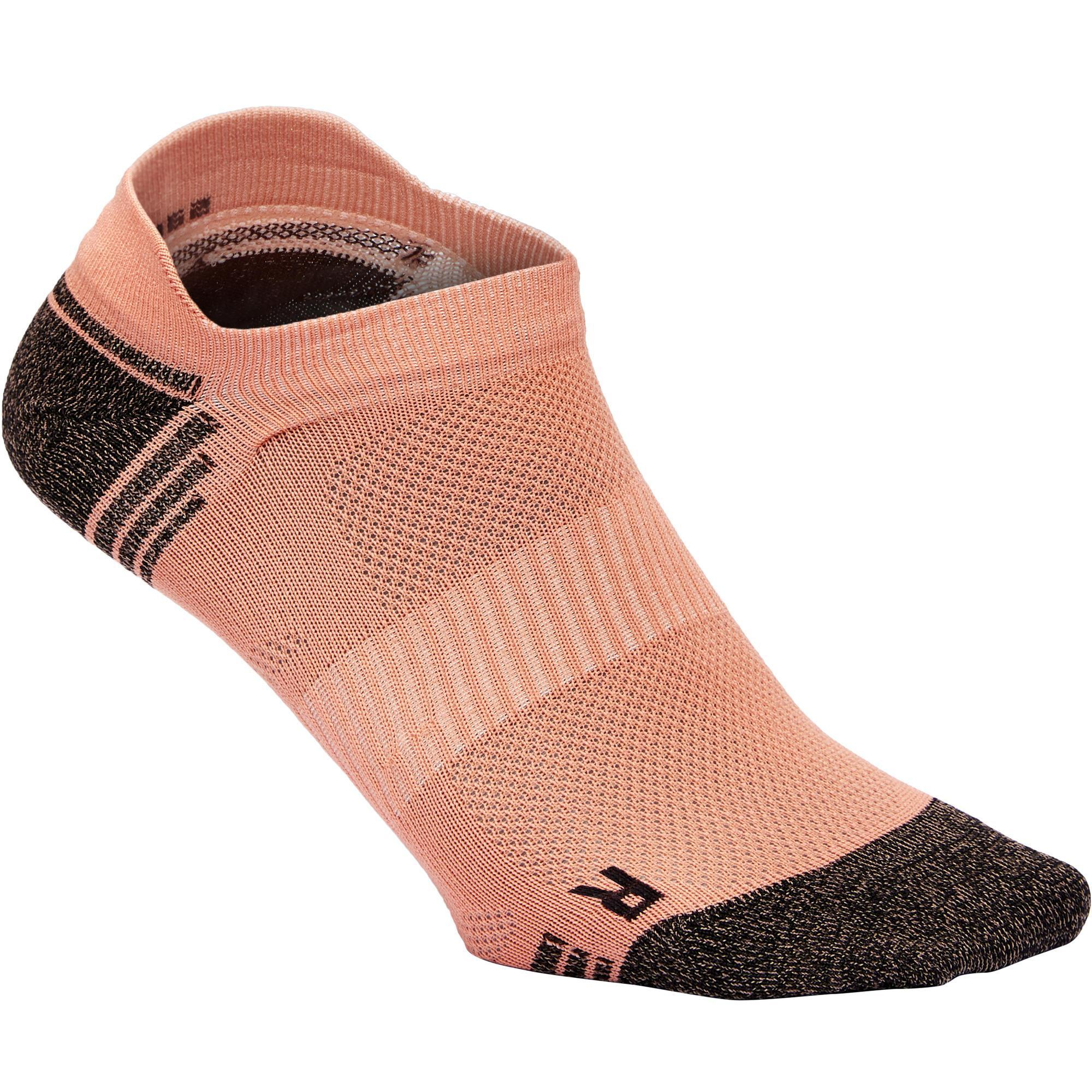 Chaussettes marche sportive ws 500 low corail newfeel