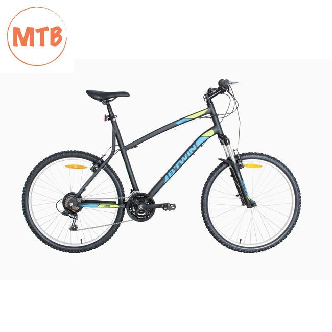 BTWIN ROCKRIDER 340 GREY YELLOW MTB CYCLE