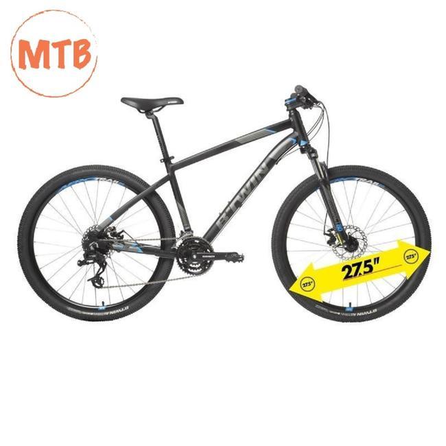 BTWIN ROCKRIDER 520 BLACK MTB CYCLE