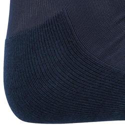 Paardrijkousen Basic volwassenen marineblauw met turquoise strepen 1 paar - 173291